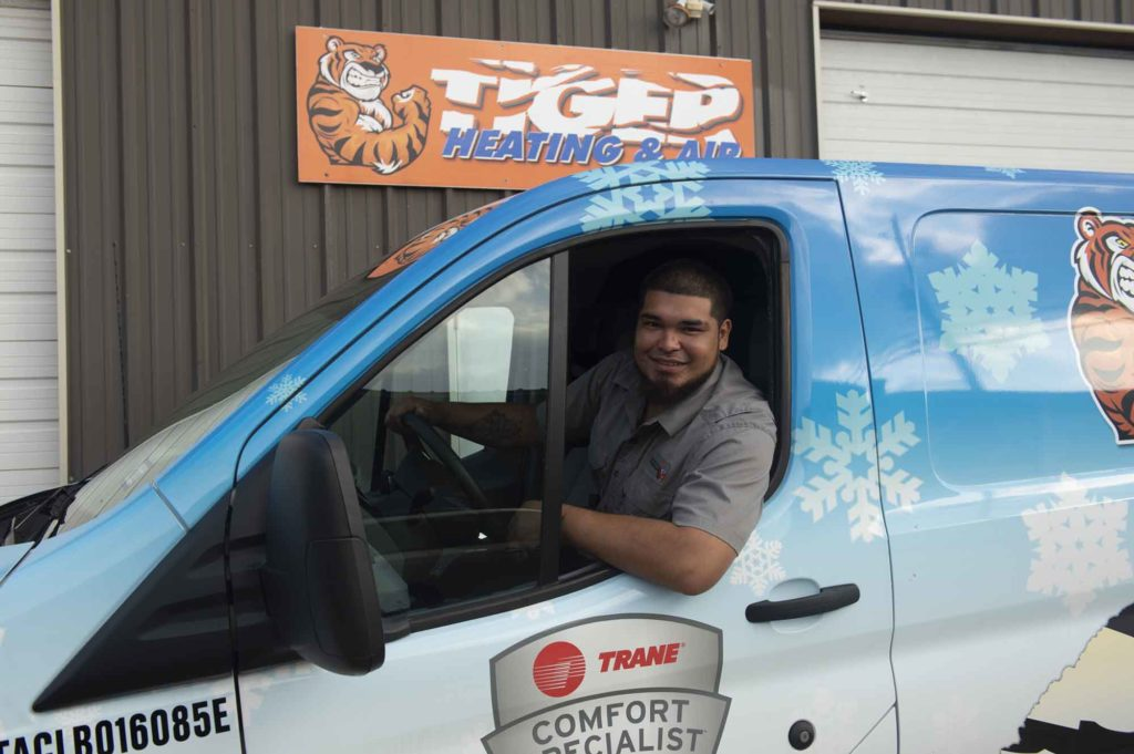 Tiger Heating & Air Corpus Christi hvac and duct cleaning technician