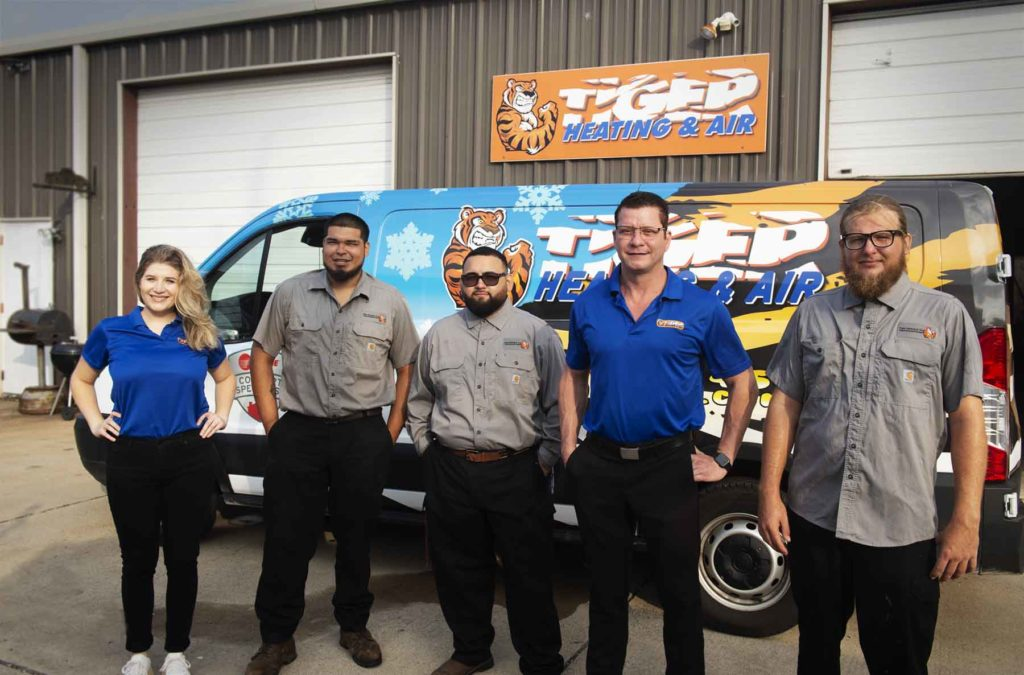 corpus christi hvac team of technicians at Tiger Heating & Air