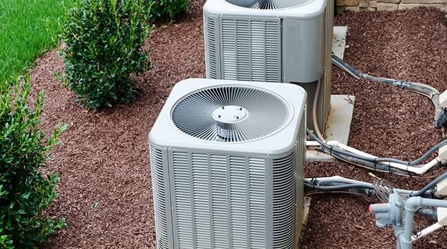 two ac units outside