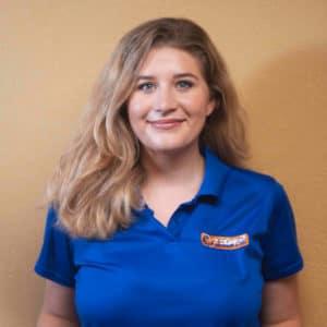 Sierra, friendly employee of Tiger AC in Corpus Christi, TX