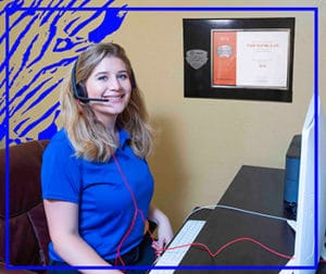Sierra is receptionist for Tiger Heating & Air in Corpus Christi, TX