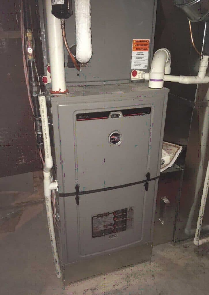 Furnace and A/C unit in basement