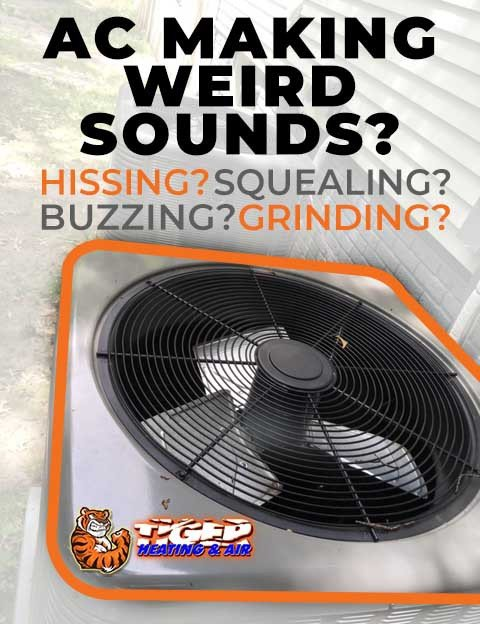 AC Making odd noises diagnosis for hissing, buzzing, squealing, and clanking