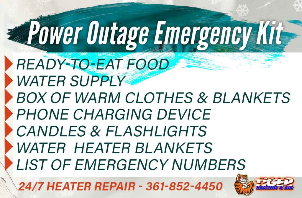 Power Outage Emergency Kit to prepare in advance of a Texas blizzard